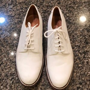 Other - Peter Huber white nubuck lace up shoes